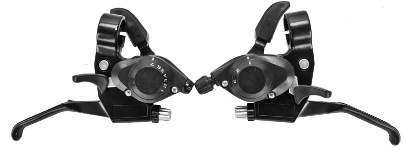 Shifter Pair with V-Brake Levers for 3x7 Shimano Gears