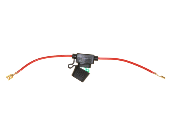 In-line 30 Amp ATO Blade Fuse Holder with Wire & 1/4