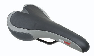 Gray and Silver Gel Saddle Seat for Bikes & Scooters