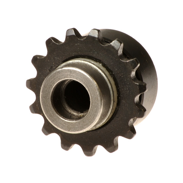 Sprocket & Roller Clutch Assembly, #25 Chain, 15 Tooth